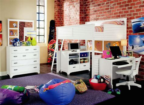 20 Charming Selections Of White Loft Beds With Desk White Loft Bed Desk