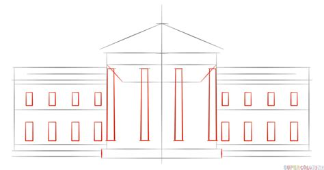 easy house drawing how to draw the white house step by step drawing tutorials