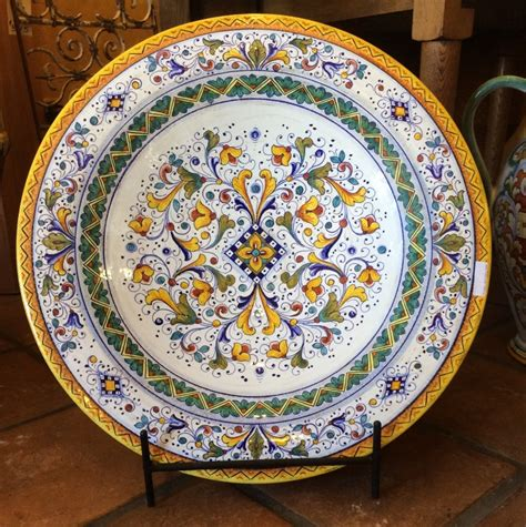 Decorative Platters by Firenze Deruta Large Decorative Wall Platter Italian