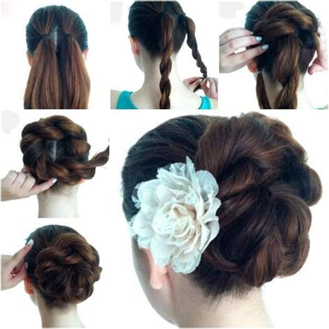 twisted flip bun updos pictures tutorial easy updo easy twist double rope bun updo hairstyle this tutorial