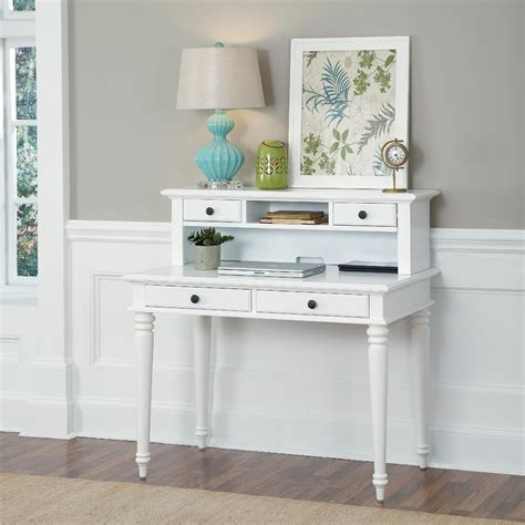 Home Styles White Bermuda Student Desk And Hutch Home White Desk And Hutch