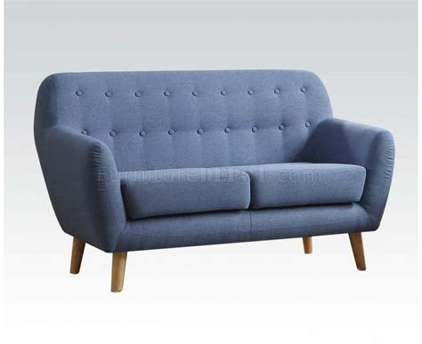 blue linen sofa ngaio 52655 sofa in blue linen by acme w options