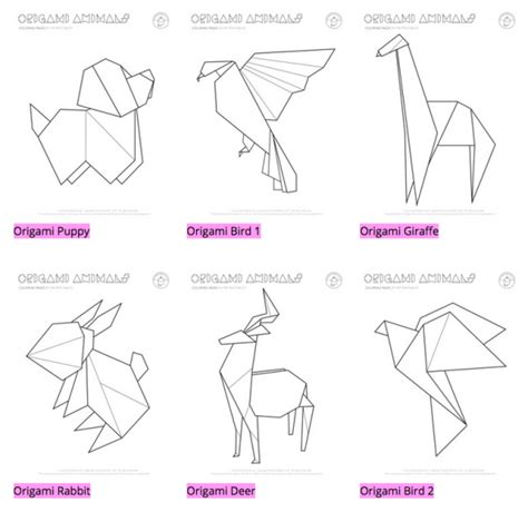Cool Easy Origami Animals - sweet graphic design mr printables design milk