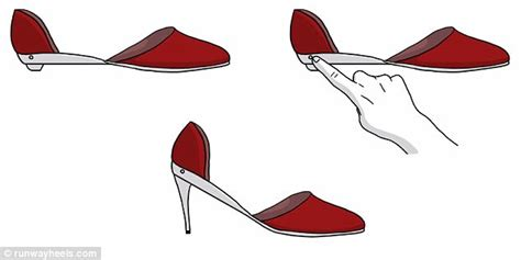 flat shoes that turn into heels runway heels can be transformed from heels into flats
