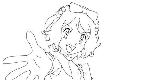pokemon xyz coloring pages pokemon xy serena lineart by aquamimi123 on deviantart