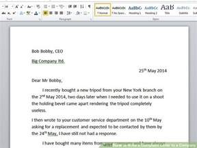 Complaint Letter Via Email How To Write A Complaint Letter To A Company With Sle Letters