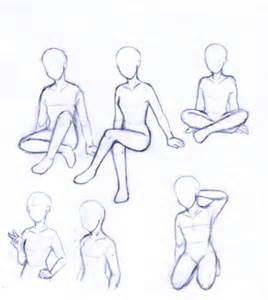 Anime Sitting Outline by Pose Work By Rhea202 On Deviantart