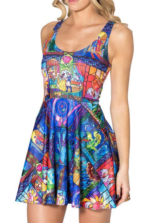 Mini Dress Disnie 2015 3d graphic disney tale summer sleeveless floral skater mini dress