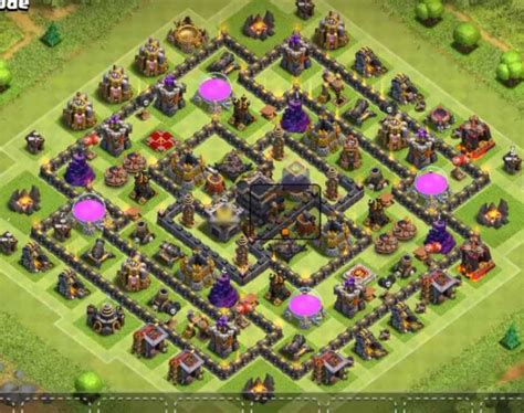 th9 hybrid bases 8 best th9 trophy bases with bomb tower 2016 2017 cocbases