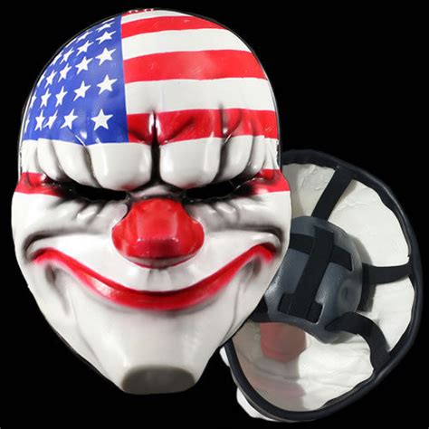 Topeng Payday Mask Payday 1 payday 2 dallas replica mask officially licensed gaya entertainment last one ebay