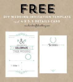 Free vintage rustic chic diy wedding invitation template and details