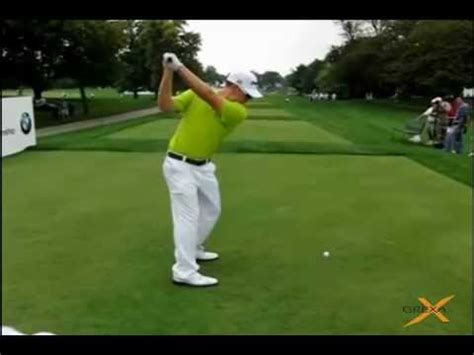 slow motion golf swing from behind hunter mahan slow motion golf swing provided by grexa