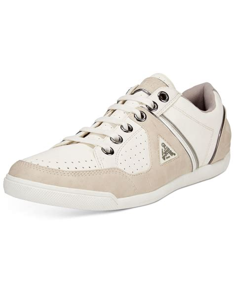 sneakers guess guess javonte low top sneakers in beige for white
