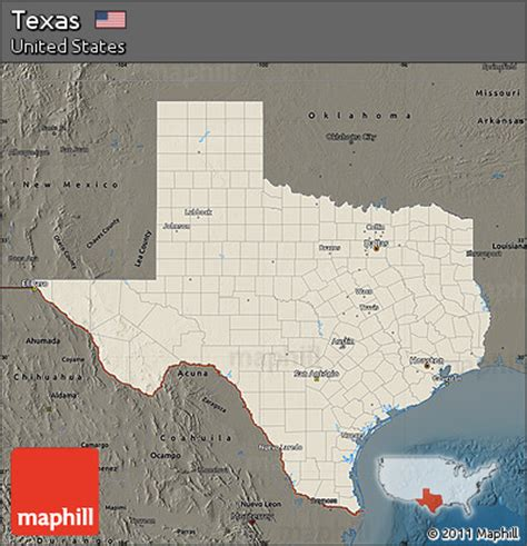 relief map of texas free shaded relief map of texas darken