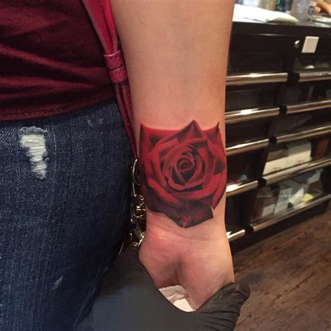 rose tattoo on the wrist beautiful on wrist by francisco