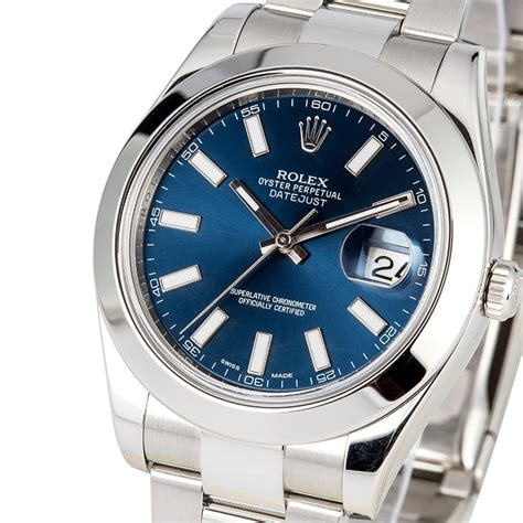 Rolex Oyster Perpetual Datejust 41 116300 rolex datejust 116300 blue