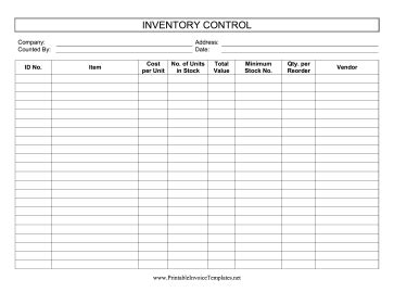 tattoo 2 card printer manual this printable inventory control log keeps track of stock