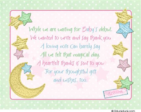 baby shower card template for gift twinkle thank you cards soft pastel moon sweet