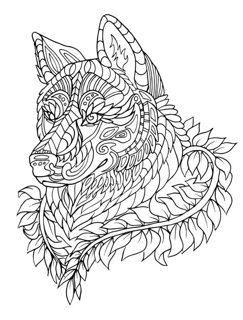 hard wolf coloring pages howl stress relieving adult coloring book master