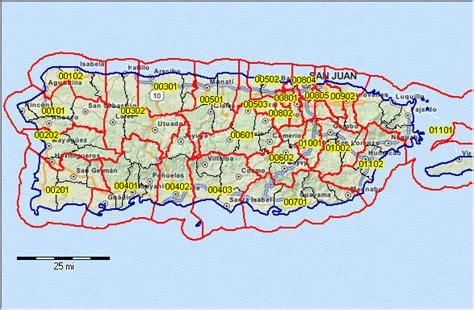 zip code map puerto rico puerto rico zip code map map