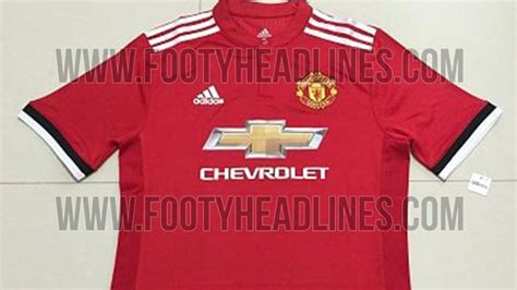 manchester united s 2017 2018 home kit leaked the busby