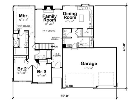 Affordable Ranch House Plans by Ranch House Plans Affordable Ranch Home Plan With 3 Car