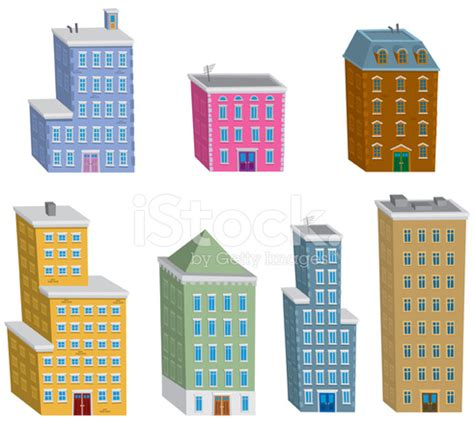 Colorful Armchair Cartoon Buildings Stock Vector Freeimages Com