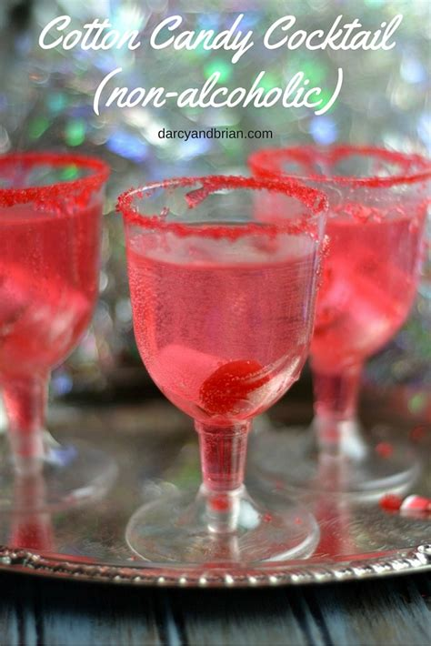 pretty alcoholic drinks cotton candy cocktail recipe non alcoholic cotton