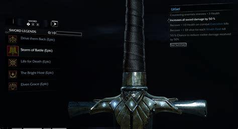 imagenes de espadas epicas c 243 mo conseguir las runas 201 picas de sombras de mordor