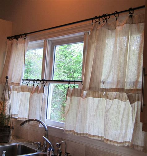 Cafe Style Curtains For Kitchens Kitchen Cafe Curtains Sewing Projects Burdastyle