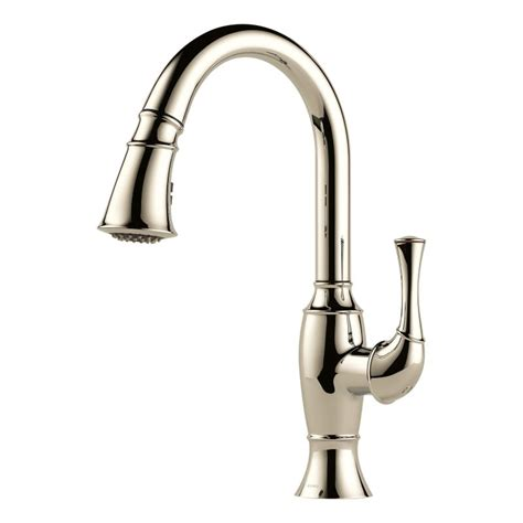 polished nickel kitchen faucets faucet 63003lf pn in brilliance polished nickel by brizo