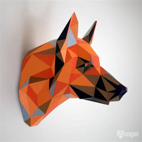 Paper Craft Pdf - print our template to make your own german shepherd