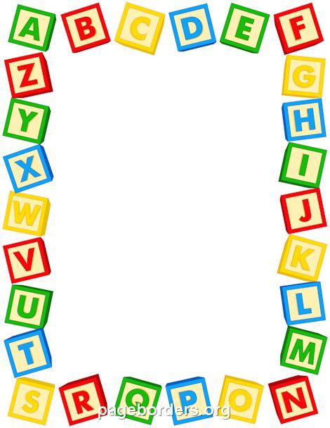 printable alphabet letters to frame printable alphabet blocks border use the border in