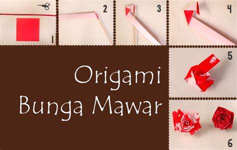 buat origami yang mudah cara membuat origami bunga mawar paling mudah mudation com