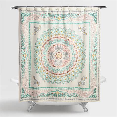 medallion shower curtain arabella medallion shower curtain world market