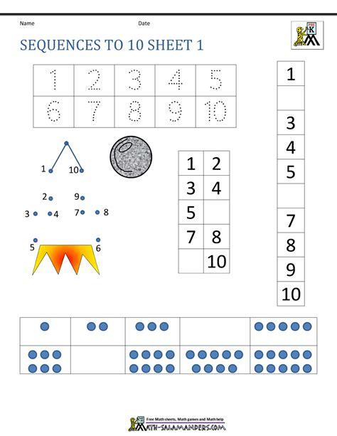 sequence numbers 1 10 printable number sequencing activities for preschoolers preschool