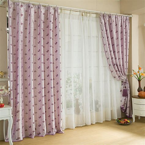 designer curtains lavender color romantic style designer curtains uk