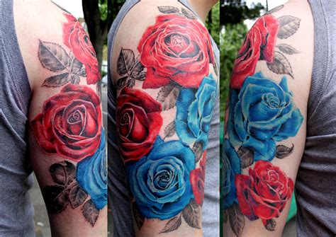 red rose tattoo for men roses sleeve for amazing
