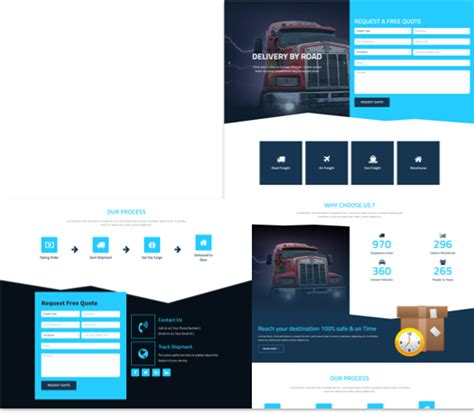Free Landing Page Elementor Template For Logistics Cakewp Elementor Landing Page Templates