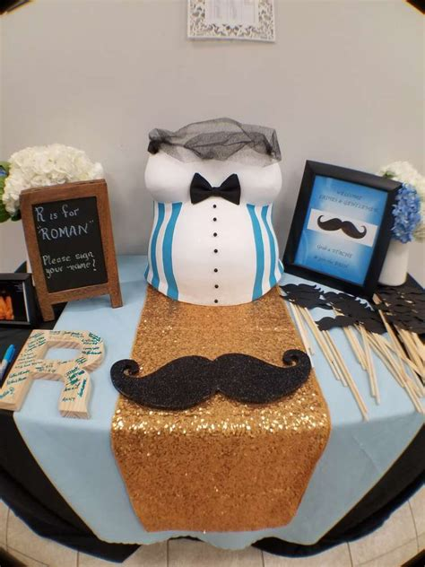 Mustache And Tie Baby Shower Decorations by Mustache Bow Tie Baby Shower Theme Baby Shower