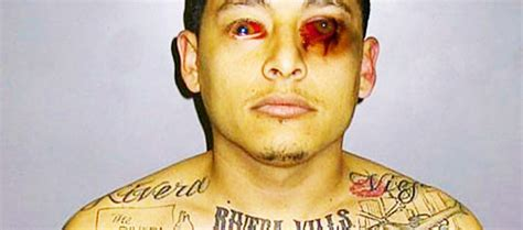 ms 13 gang tattoos member loses vision from self tattooing his eye balls
