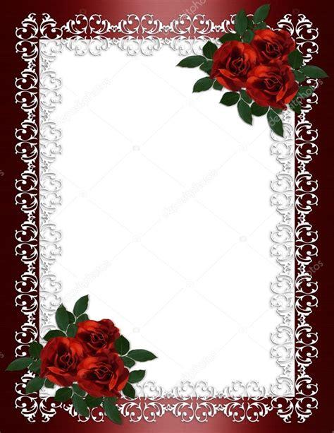 Wedding Letter Borders by Wedding Invitation Border Roses Stock Photo