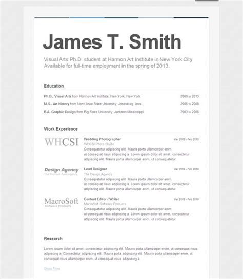 Resume Set Up by Exle Resume Resume Format Setup