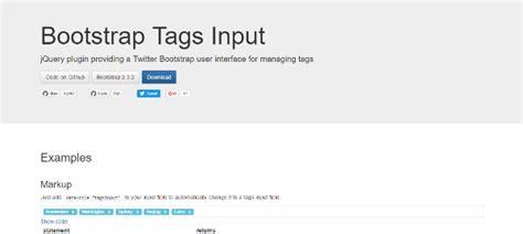 tutorial bootstrap tags input 15 new jquery bootstrap plugins dev code geek
