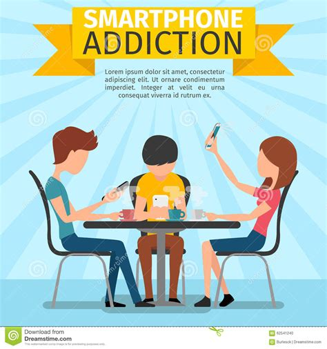 Detox Person by Smartphone Addiction Royalty Free Stock Photography