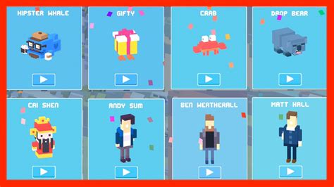 cross road mystery characters unlock original 8 mystery characters crossy road f
