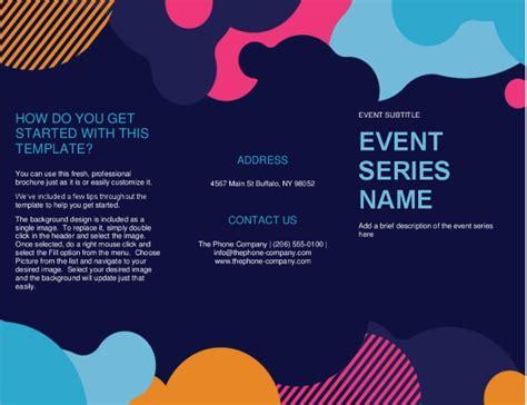 vivid shapes event brochure