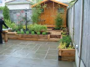 Small Patio Design Ideas Small Garden Patio And Raised Beds Donegan Landscaping Dublin