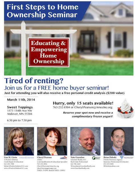 metro time home buyer seminar greenlaw realty