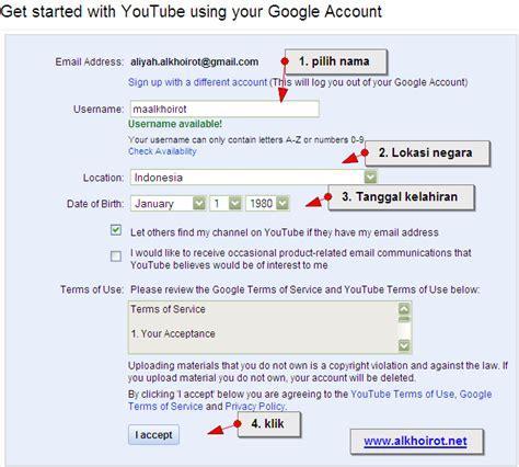 membuat youtube account bunga cara membuat youtube